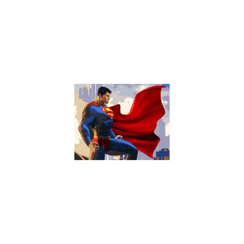 """Malování podle čísel s rámem """"Superman"""" 50x40cm"""