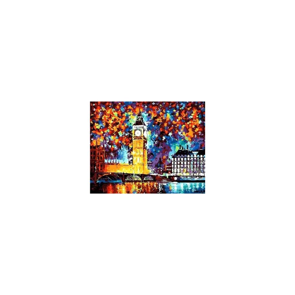"""Malování podle čísel s rámem """"Big Ben"""" 50x40cm"""
