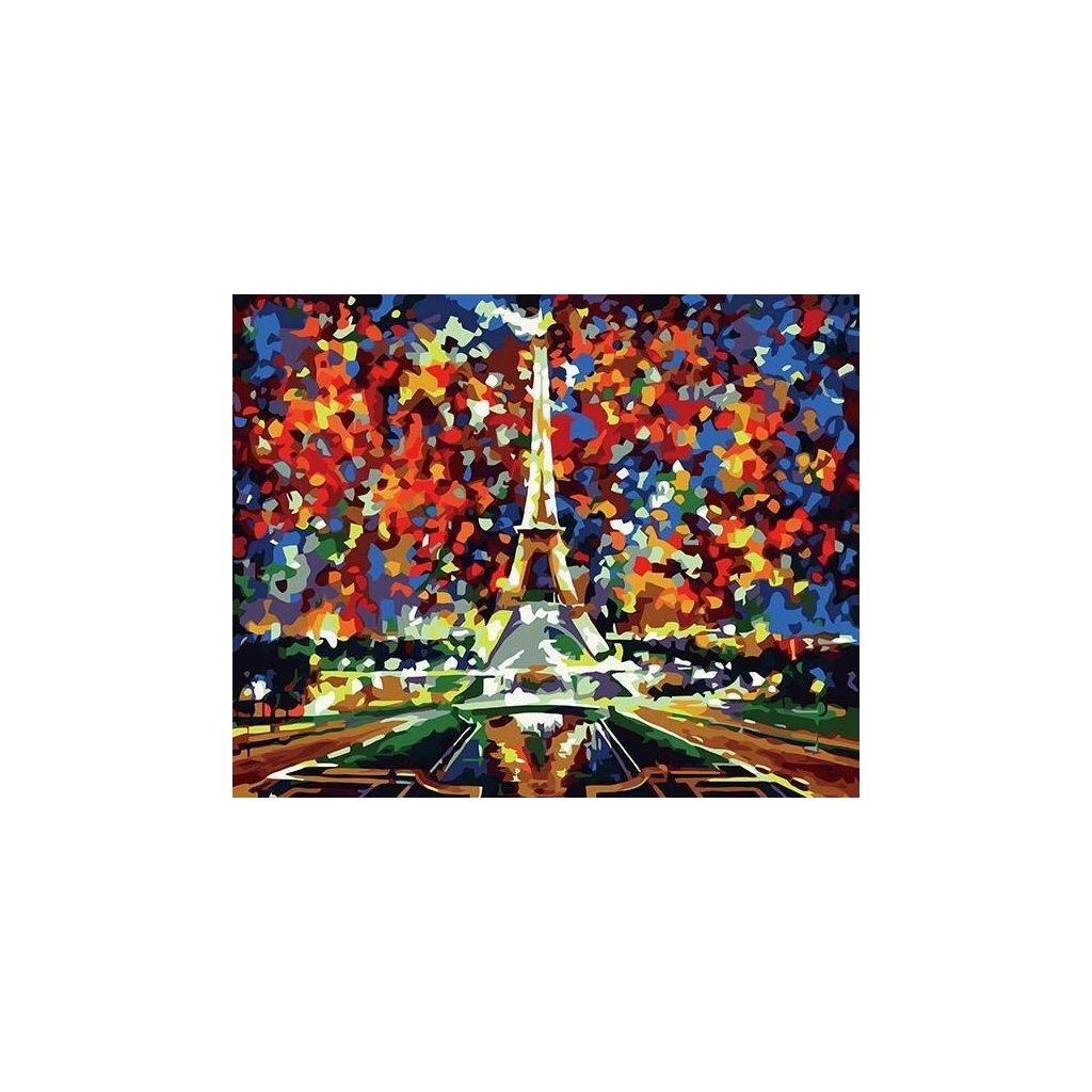 """Malování podle čísel s rámem """"Barevný Paříž"""" 50x40cm"""