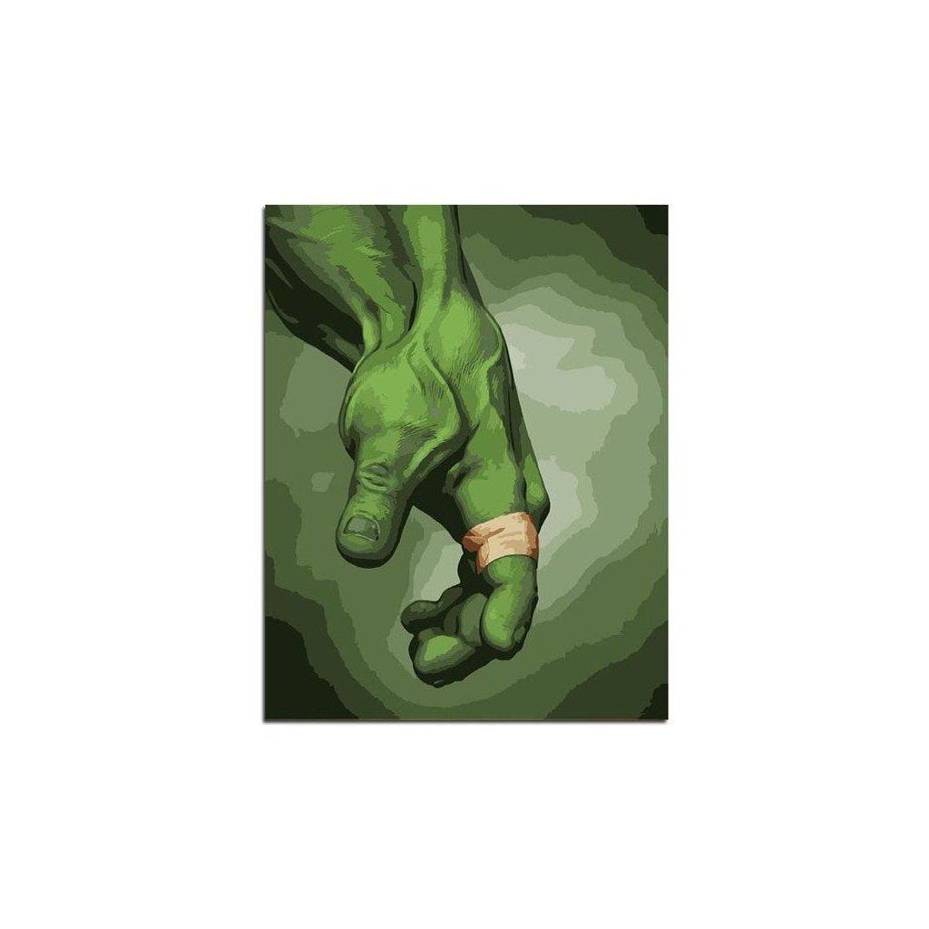 """Malování podle čísel s rámem """"Hulk"""" 50x40cm"""