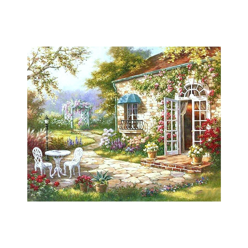"""Malování podle čísel s rámem """"Zahrada"""" 50x40cm"""