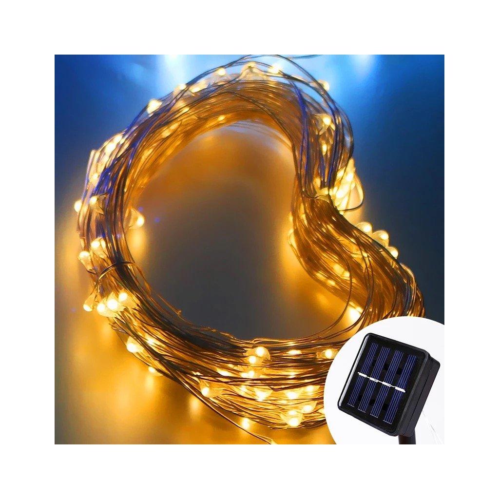 Solární LED světelná řetěz - 12m