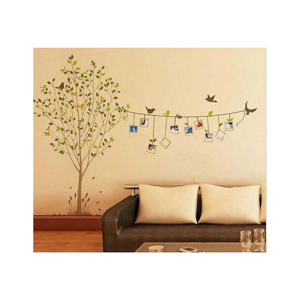 samolepiaca tapeta dekoracna samolepka na stenu nalepka strom s fotlami 2 interierovy dizajn nahlad stylovydomov