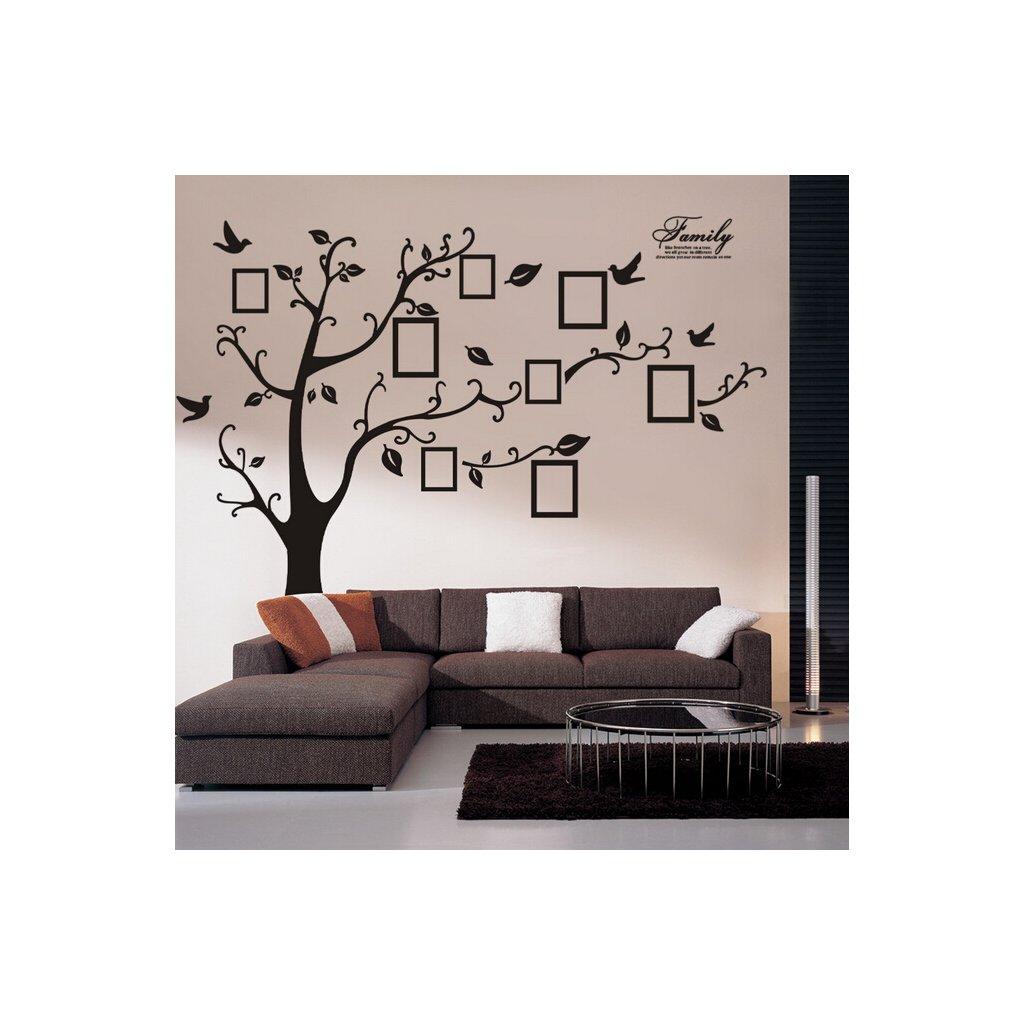 "Samolepka na zeď ""Velký strom s fotkami - pravý"" 180x250 cm"