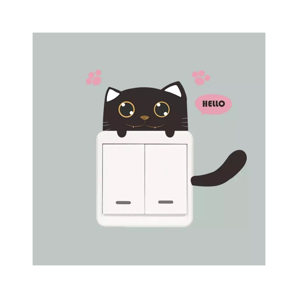 "Samolepka na vypínač ""Kočička 4"" 15x10 cm"