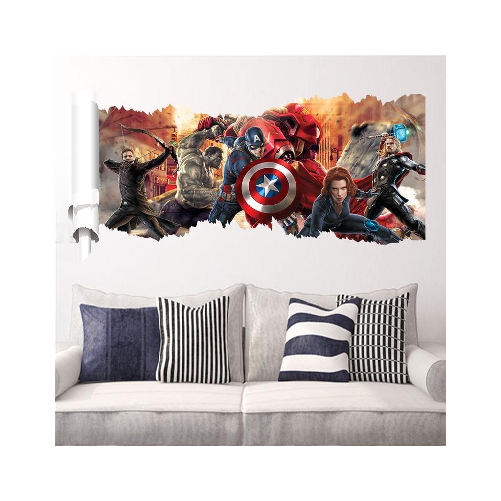 detska samolepka na stenu samolepiaca tapeta dekoracna nalepka pre deti avangers nahlad stylovydomov