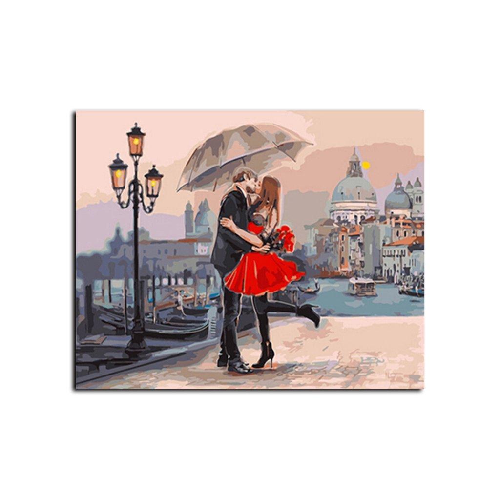 namaluj si obraz zamilovany par s dazdnikom nahlad stylovydomov