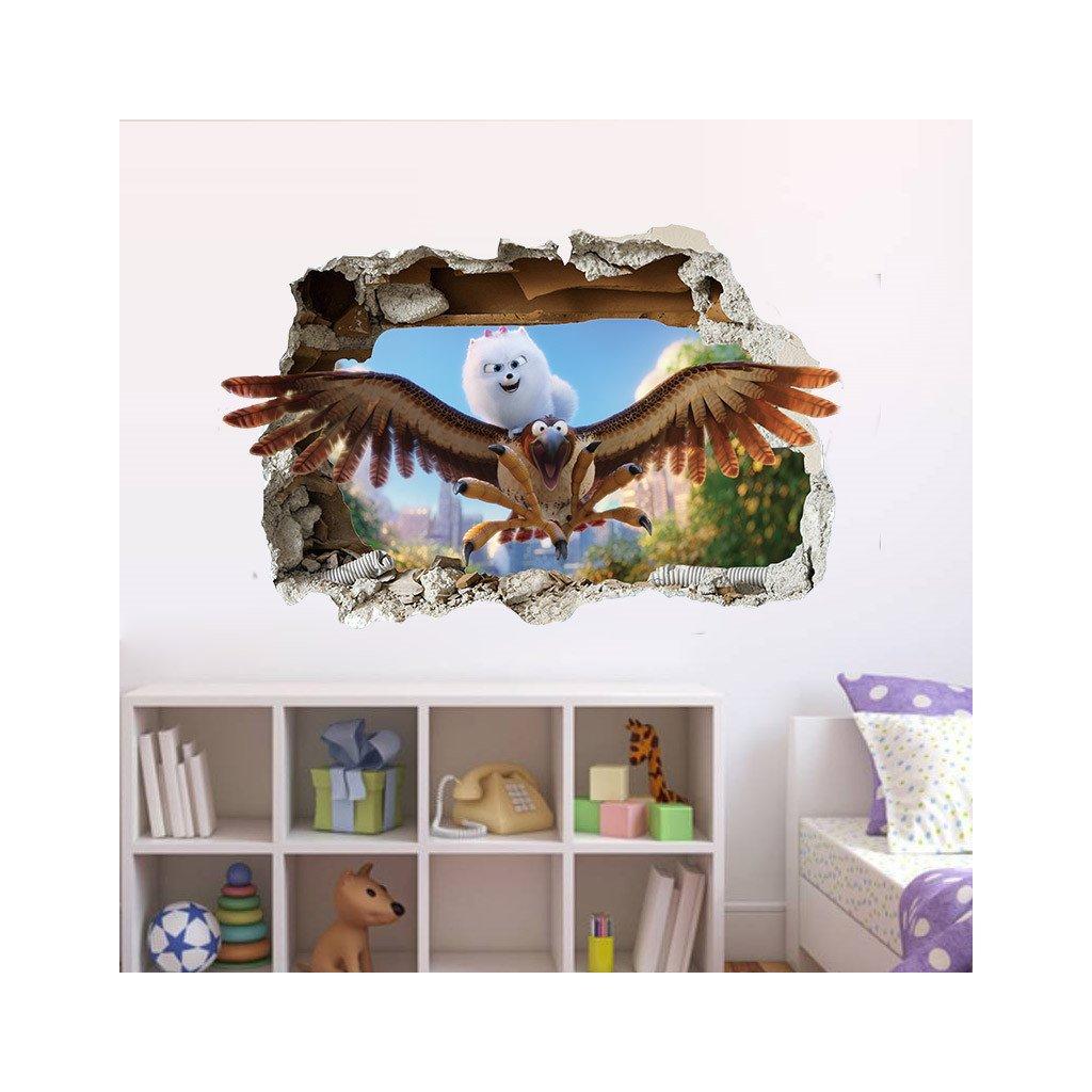 detska samolepka na stenu samolepiaca tapeta dekoracna nalepka pre deti maznacikovia nahlad stylovydomov