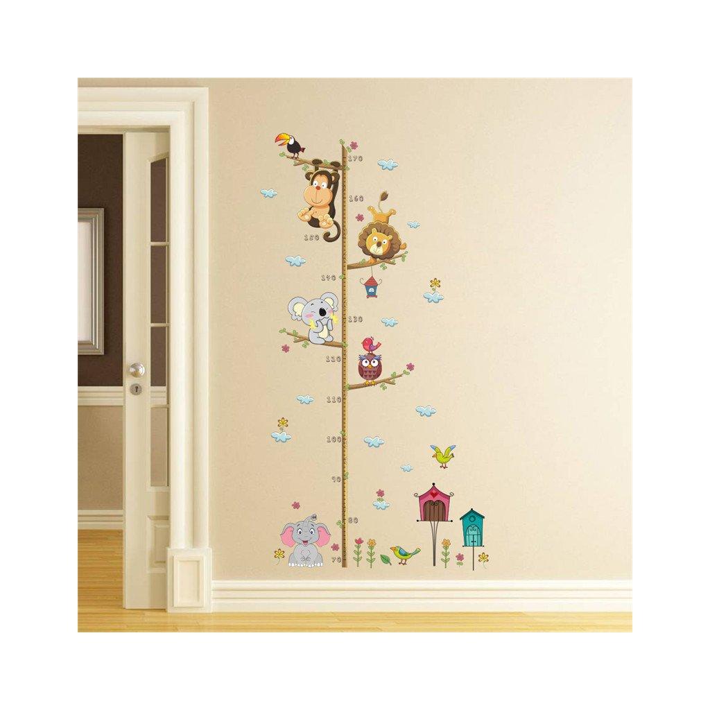 detska samolepka na stenu samolepiaca tapeta dekoracna nalepka pre deti detsky meter dzungla zvieratka nahlad stylovydomov