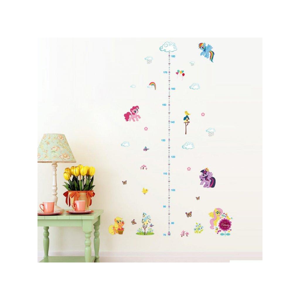 detska samolepka na stenu samolepiaca tapeta dekoracna nalepka pre deti detsky meter my little pony nahlad stylovydomov