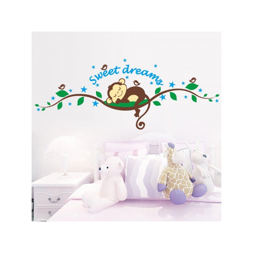 detska samolepka na stenu samolepiaca tapeta dekoracna nalepka opicka sweet dreams vizualizacia stylovydomov