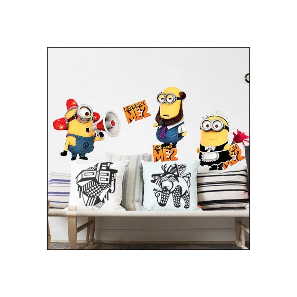 detska samolepka na stenu samolepiaca tapeta dekoracna nalepka mimoni 4 nahlad stylovydomov