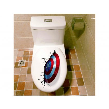 "Samolepka na zeď ""Captain America - štít"" 25x30 cm"