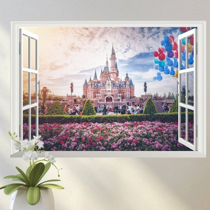 "Samolepka na zeď ""DisneyLand"" 70x50 cm"