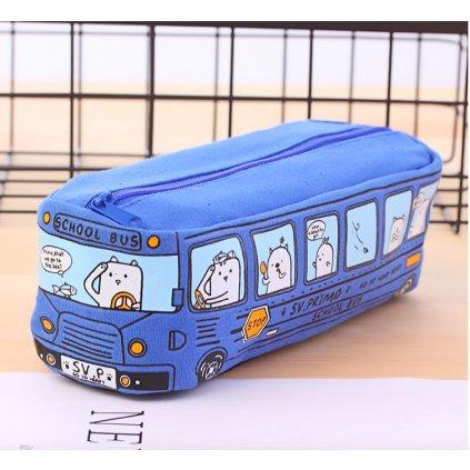 Modrý autobus detail
