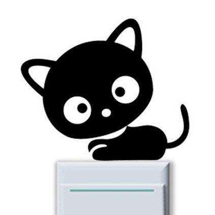 "Samolepka na vypínač ""Kočička 2"" 12x9cm"