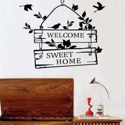 samolepiaca tapeta dekoracna samolepka na stenu vinylova nalepka domov home welcome 1 vitajte dizajn dekoracia nahlad stylovydomov