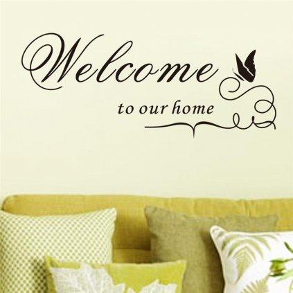 samolepiaca tapeta dekoracna samolepka na stenu vinylova nalepka domov home welcome vitejte vitajte dizajn dekoracia nahlad stylovydomov