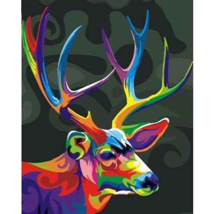 Farebný jeleň