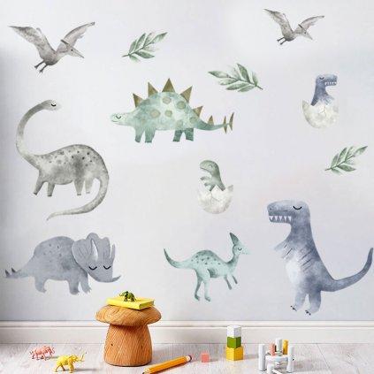 """Samolepka na zeď """"Dinosauři 5"""" 80x100 cm"""