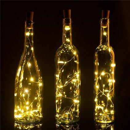 dekoracia na oslavy led svetielka svetla do flase nahlad stylovydomov