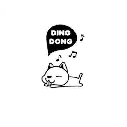 """Samolepka na vypínač """"Ding Dong pes"""" 10x15 cm"""