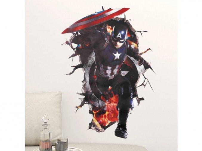 """Samolepka na zeď """"Kapitán Amerika"""" 70x50 cm"""