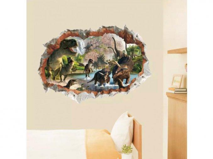 """Samolepka na zeď """"Dinosauři"""" 70x50 cm"""