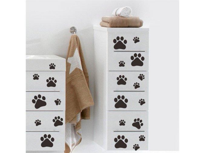 samolepiaca tapeta dekoracna samolepka na stenu vinylova nalepka psie packy interierovy dizajn dekoracia nahlad stylovydomov