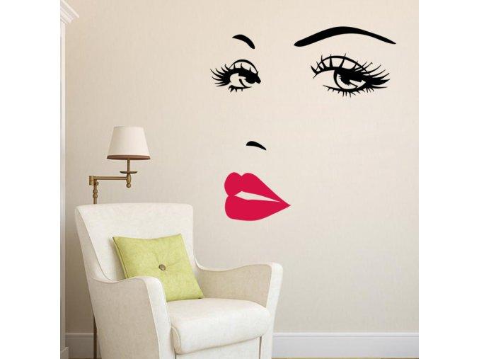 samolepiaca tapeta dekoracna samolepka na stenu vinylova nalepka zenska tvar dizajn dekoracia nahlad stylovydomov