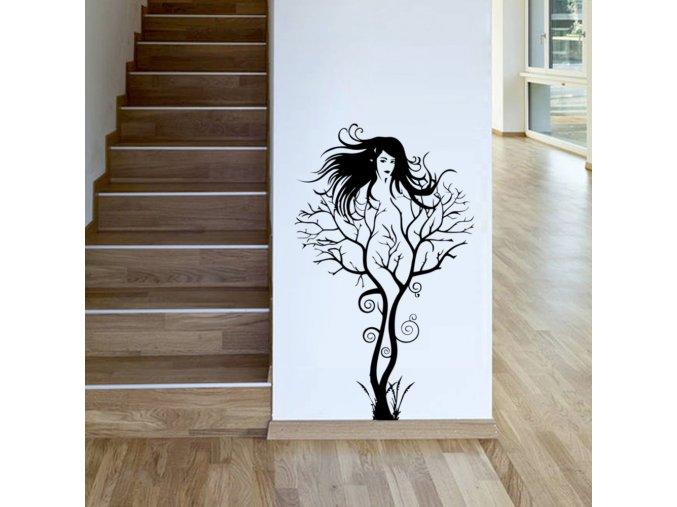 samolepiaca tapeta dekoracna samolepka na stenu vinylova nalepka zena strom interierovy dizajn dekoracia nahlad stylovydomov