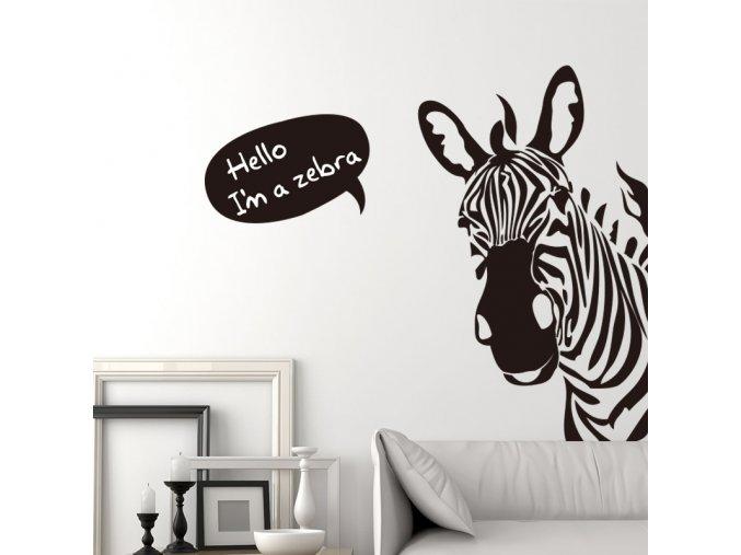samolepiaca tapeta dekoracna samolepka na stenu nalepka zebra interierovy dizajn dekoracia nahlad balenia stylovydomov