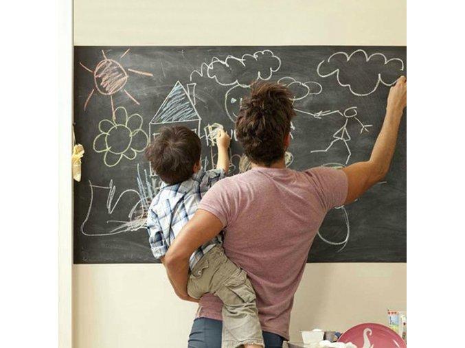 detska samolepka na stenu samolepiaca tapeta dekoracna nalepka cierna folia na pisanie kriedou nahlad stylovydomov