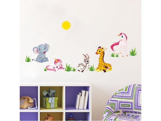detska samolepka na stenu samolepiaca tapeta dekoracna nalepka pre deti baby zvieratka nahlad stylovydomov