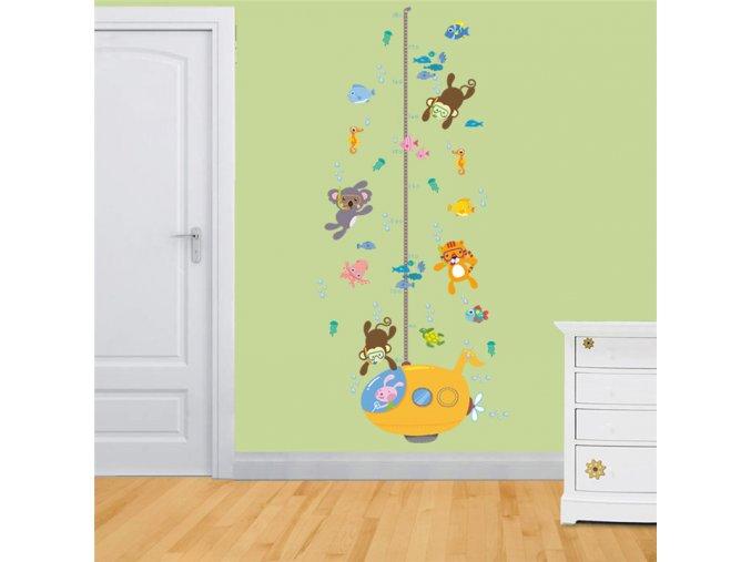 detska samolepka na stenu samolepiaca tapeta dekoracna nalepka pre deti detsky meter pokorka zvieratka nahlad stylovydomov