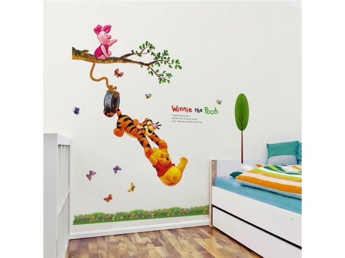 "Samolepka na zeď ""Medvídek Pú"" 55x90 cm"