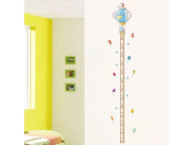 detska samolepka na stenu samolepiaca tapeta dekoracna nalepka pre deti detsky meter balony slon macka nahlad stylovydomov