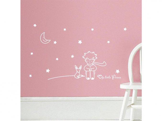 detska samolepka na stenu samolepiaca tapeta dekoracna nalepka maly princ biela nahlad stylovydomov