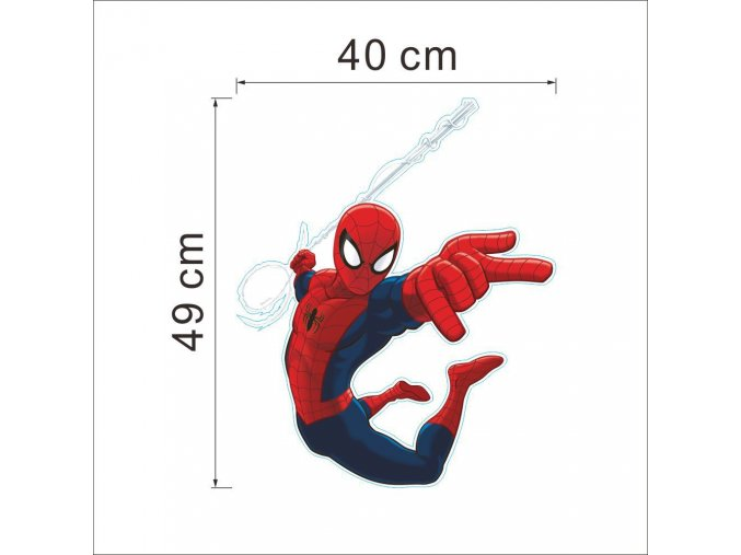 detska samolepka na stenu samolepiaca tapeta dekoracna nalepka spiderman spider man 2 nahlad stylovydomov