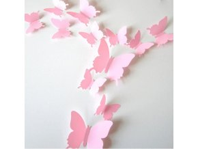 samolepiaca tapeta dekoracna samolepka na stenu nalepka ruzove motyle plastove interierovy dizajn stylovydomov