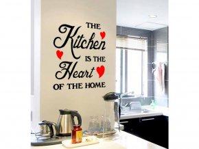 samolepiaca tapeta dekoracna samolepka na stenu vinylova nalepka kuchyna je srdcom dizajn dekoracia nahlad stylovydomov