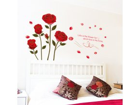 samolepiaca tapeta dekoracna samolepka na stenu nalepka ruze interierovy dizajn dekoracia nahlad stylovydomov