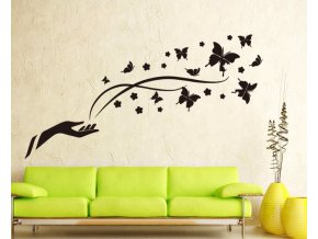 samolepiaca tapeta dekoracna samolepka na stenu nalepka ruka a motyle styl interierovy dizajn dekoracia vizualizacia stylovydomov