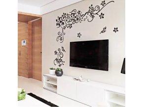 samolepiaca tapeta dekoracna samolepka na stenu nalepka kvetinovy ornament styl interierovy dizajn dekoracia nahlad stylovydomov