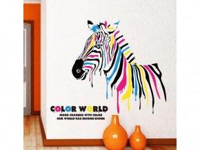 samolepiaca tapeta dekoracna samolepka na stenu nalepka farebna zebra styl interierovy dizajn dekoracia nahlad stylovydomov