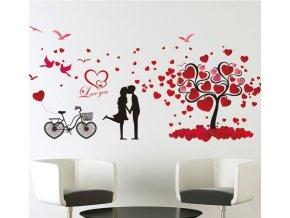 samolepiaca tapeta dekoracna samolepka na stenu nalepka zamilovany par styl interierovy dizajn dekoracia nahlad balenia stylovydomov
