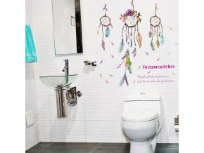 samolepiaca tapeta dekoracna samolepka na stenu nalepka farebne lapace snov styl interierovy dizajn dekoracia nahlad stylovydomov