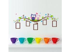 detska samolepka na stenu samolepiaca tapeta dekoracna nalepka sovicky s fotkami nahlad stylovydomov