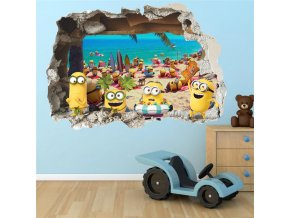 detska samolepka na stenu samolepiaca tapeta dekoracna nalepka pre deti mimoni nahlad stylovydomov