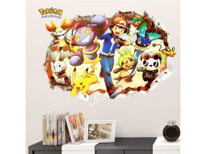 detska samolepka na stenu samolepiaca tapeta dekoracna nalepka pre deti pokemon nahlad stylovydomov